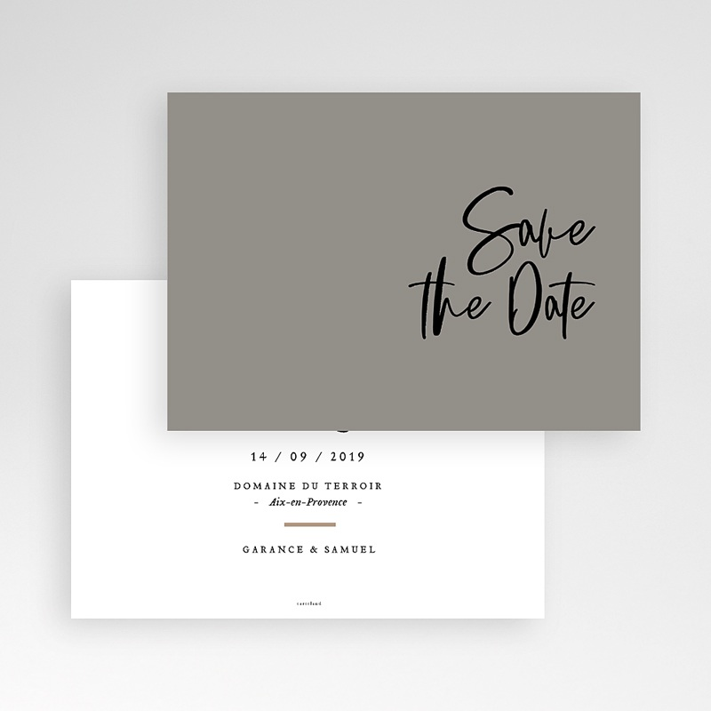 Save The Date Mariage Effet Brush pas cher