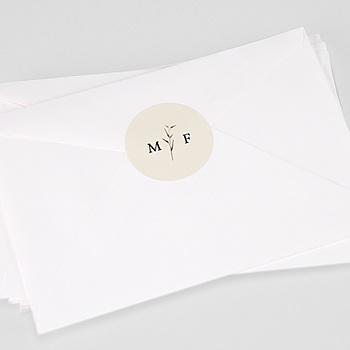 Étiquette autocollante mariage - Champêtre Epuré - 0