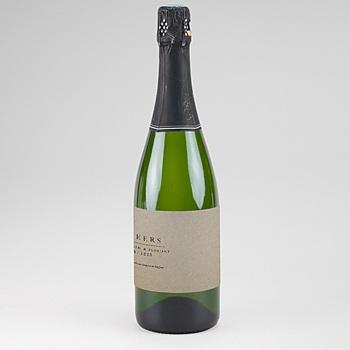 Etiquette bouteille mariage Kraft Epuré personnalisable