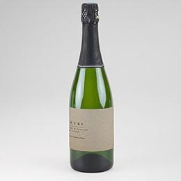 Étiquette bouteille mariage Kraft Epuré