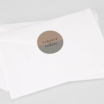 Étiquette autocollante mariage - Effet Brush - 0