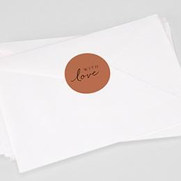 Étiquette autocollante mariage Calligraphie Cannelle