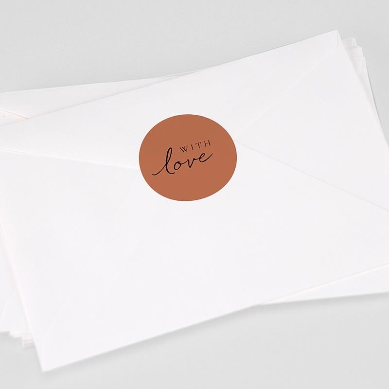 Etiquette autocollante mariage Calligraphie Cannelle