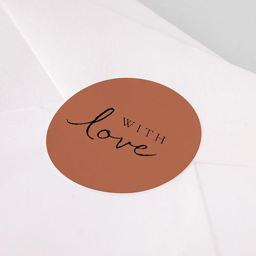 Etiquette autocollante mariage Calligraphie Cannelle pas cher