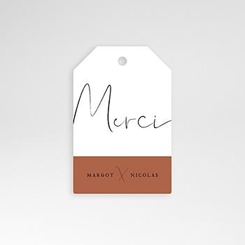 Etiquette mariage - Calligraphie Cannelle - 0
