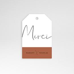 Etiquette Mariage Calligraphie Cannelle