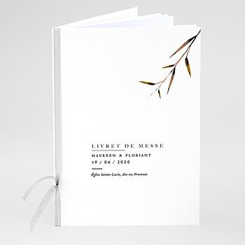 Livrets de Messe Mariage - Champêtre Epuré - 0