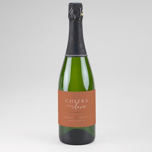 Etiquette Bouteille Champagne Black Cinnamon