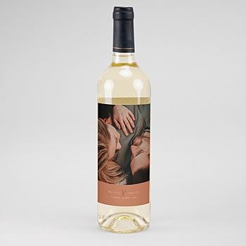 Étiquette bouteille mariage vin - Calligraphie Cannelle - 0