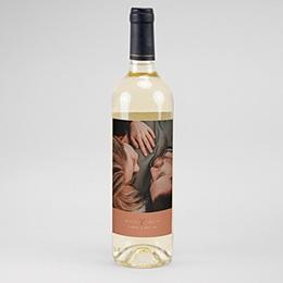 Étiquette bouteille mariage vin Calligraphie Cannelle