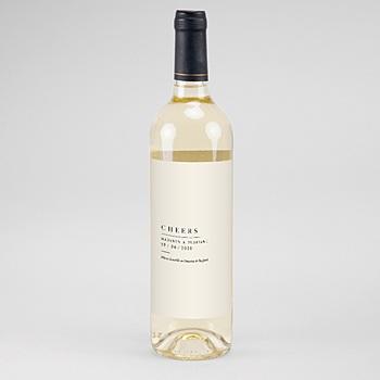 Étiquette bouteille mariage vin - Champêtre Epuré - 0