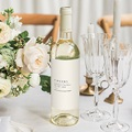 Étiquette bouteille mariage vin Champêtre Epuré