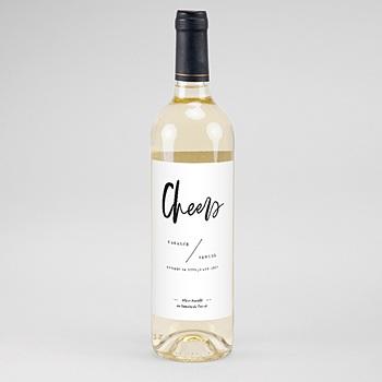 Acheter étiquette bouteille mariage vin effet brush