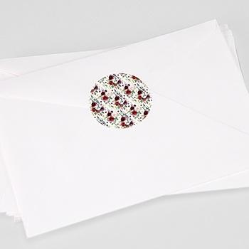 Etiquette autocollante mariage couronne marsala à personnaliser