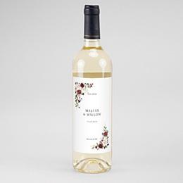 Étiquette bouteille mariage vin Couronne Marsala