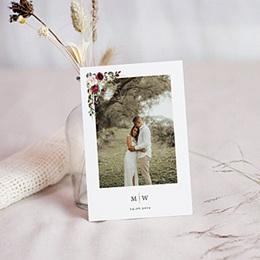 Carte remerciement mariage boheme Couronne Marsala