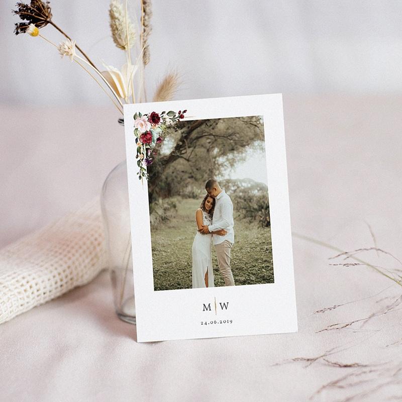 remerciement mariage boheme - Couronne Marsala 71506 thumb