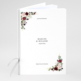 Livret messe mariage Couronne Marsala