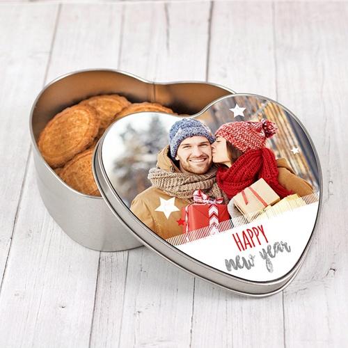 Boîte Personnalisée Photo Merry Christmas pas cher