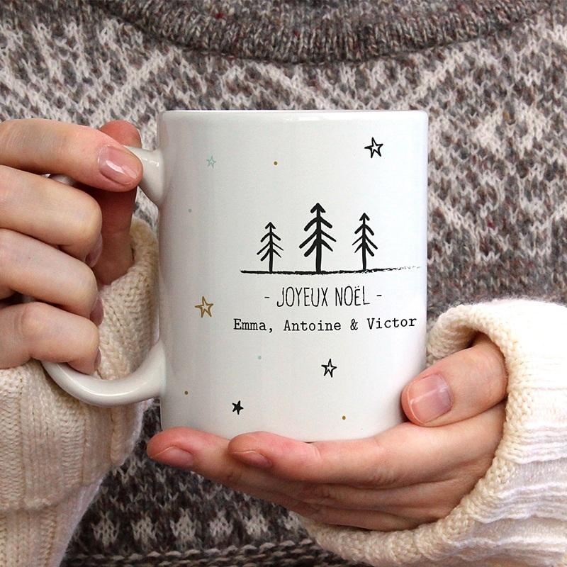 Mug Personnalisé Noël Motifs de Noël gratuit