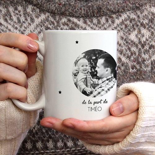 Mug Personnalisé Fête des Pères To the Moon gratuit