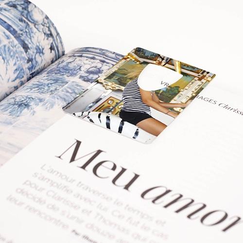 Marque-Page Aluminium Personnalisé Signet Photo - 7,5 x 5 cm pas cher