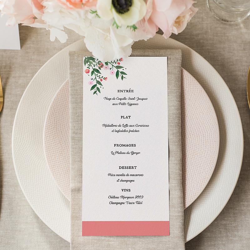Menu mariage Fleurs d'été gratuit