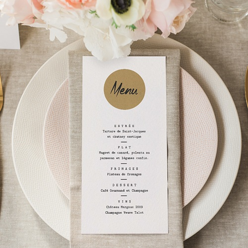 Menu de Mariage - Kraft Love 71735 thumb