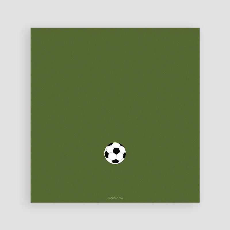 Carte invitation anniversaire garçon Football pas cher