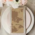 Menu Mariage World Map gratuit