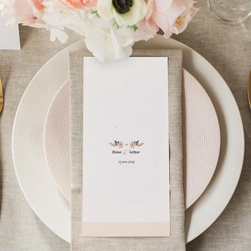 Menu mariage Douceurs Pastel gratuit