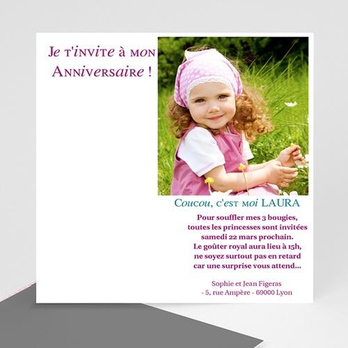 Invitations Anniversaire Garçon - Bouquet de ballons 7177