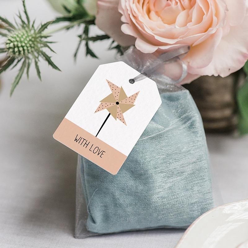 Etiquette Cadeau Naissance Sweet Origami gratuit