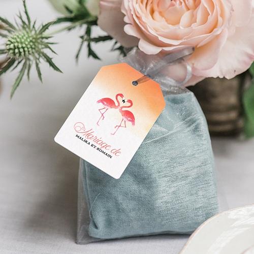 Etiquette Cadeau Mariage Flambloyant gratuit