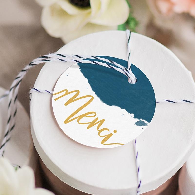 Etiquette Cadeau Mariage L'or bleu gratuit