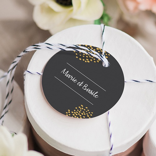 Etiquette Cadeau Mariage Moisson d'Automne gratuit