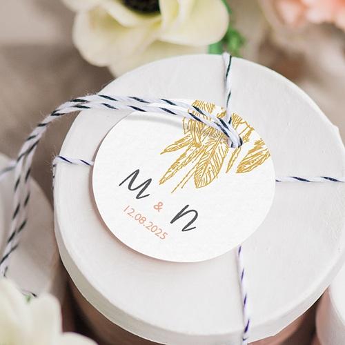 Etiquette Cadeau Mariage Boho Olive gratuit