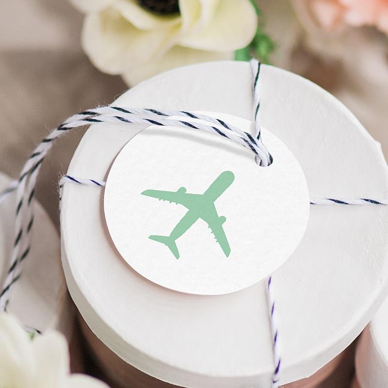 Etiquette Cadeau Mariage Blue Wedding Pass gratuit