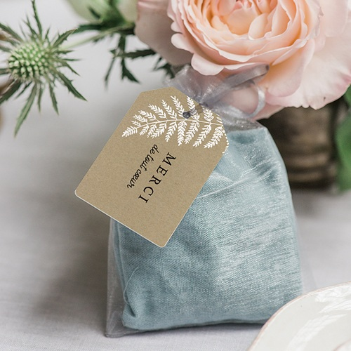 Etiquette Cadeau Mariage Verdoyant gratuit