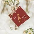 Etiquette mariage Or & Bordeaux