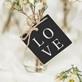 Etiquette Cadeau Mariage Carré Typographique