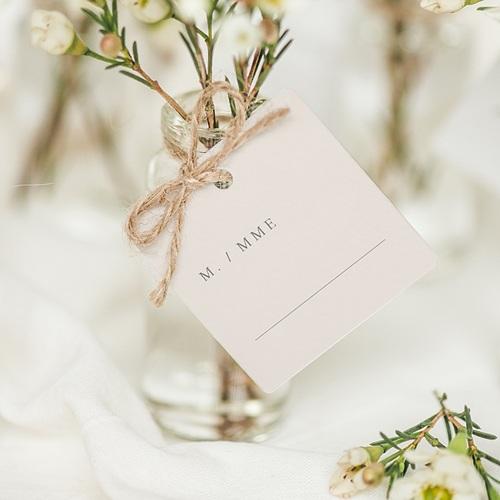 Marque place mariage Botanique Minimaliste