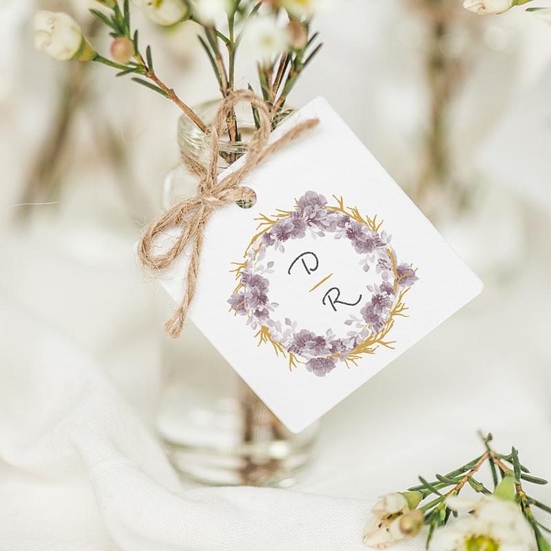 Etiquette Cadeau Mariage Vintage Chic Rose
