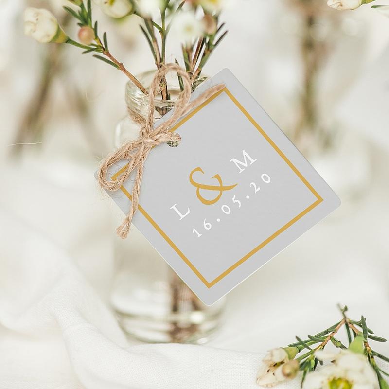 Etiquette mariage Tendance dorée