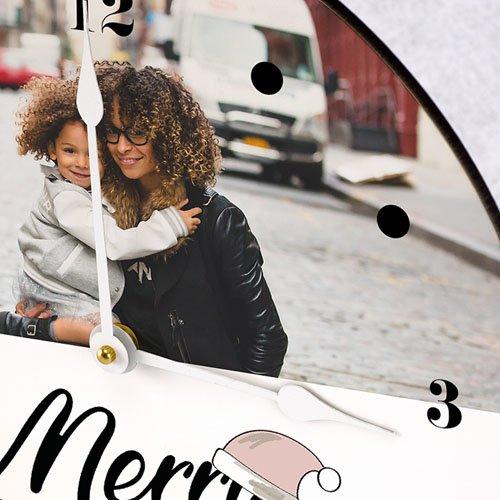 Horloge Personnalisée Photo Merry Christmas gratuit