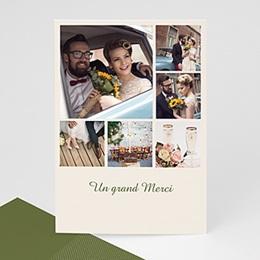 Faire-Part Multi-photo 6 Photos et Petits Carrés