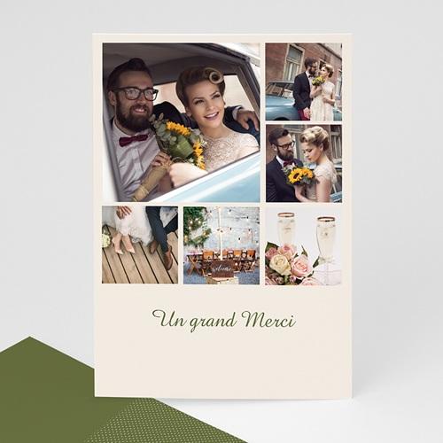 Carte personnalisée 3 photos et plus 6 Photos et Petits Carrés