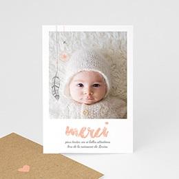 Carte remerciement naissance fille Attrape-Rêve Girly