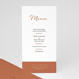 Menu mariage Calligraphie Cannelle