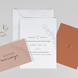 Faire-part mariage Calligraphie Cannelle
